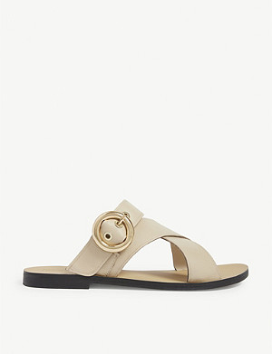 TOPSHOP Faze buckled leather sandals