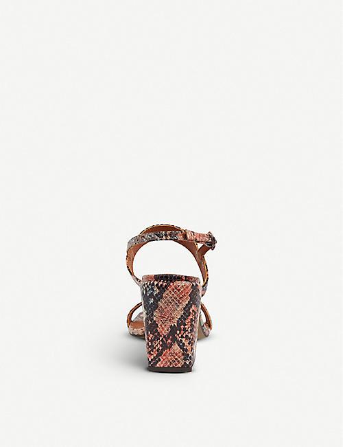 d07ed6d0b04 TOPSHOP Roxie vegan snake-print sandals