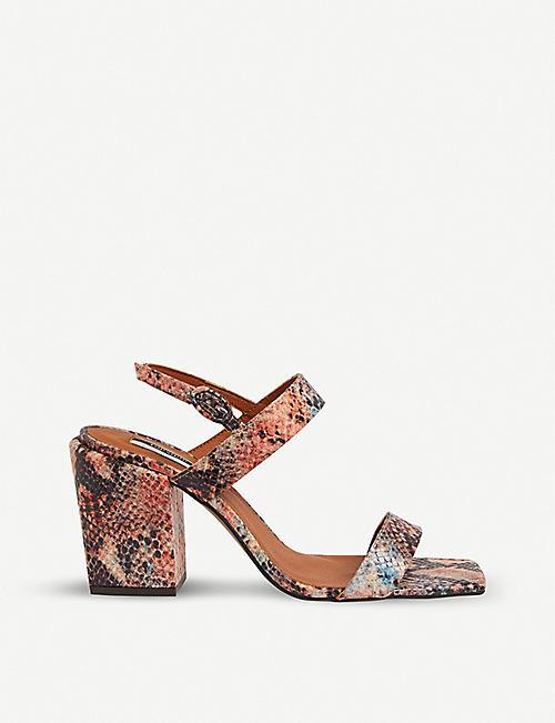 899d319c27be0 TOPSHOP Roxie vegan snake-print sandals