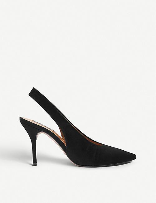 99c4972072b TOPSHOP - Gail leather slingback shoes