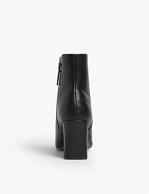 TOPSHOP Monaco leather ankle boots