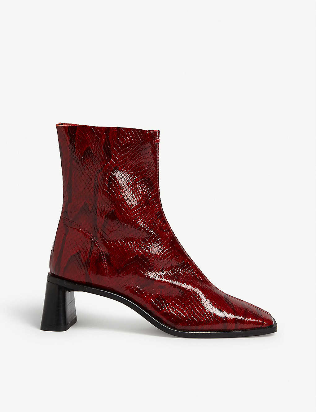 TOPSHOP: Maja snake-embossed leather boots