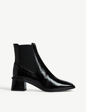 TOPSHOP Mia leather chelsea boots
