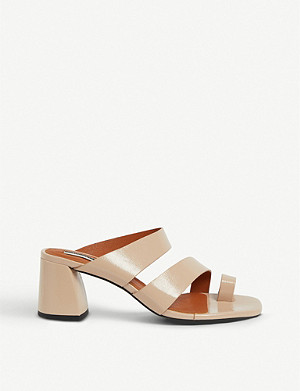 TOPSHOP Reya vegan toe-loop faux-leather sandals