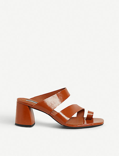 7189bb19f5d TOPSHOP Reya vegan toe-loop faux-leather sandals
