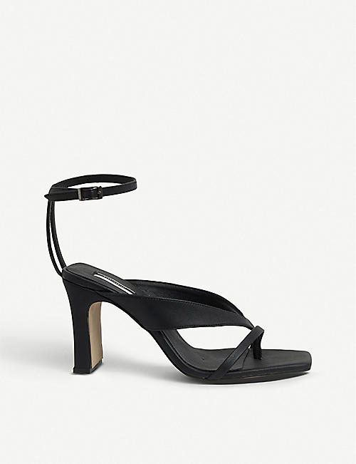 TOPSHOP Reid strappy vegan leather heeled sandals