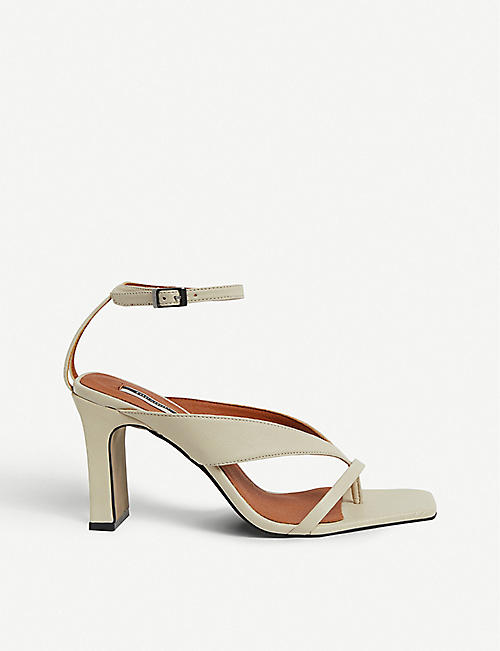 TOPSHOP Reid strappy vegan leather heeled sandals 908c04530f418