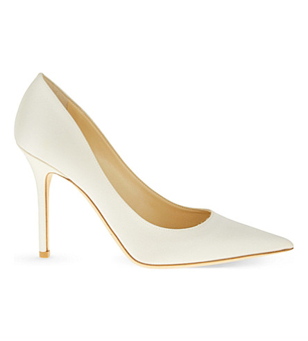 391f5dcaed56 ... JIMMY CHOO Abel 100 satin heeled courts (Ivory. PreviousNext