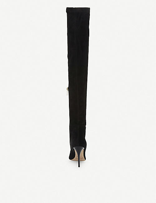 JIMMY CHOO Toni stretch-suede over-the-knee boots
