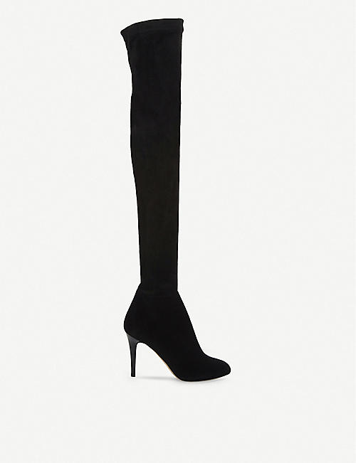 JIMMY CHOO: Toni stretch-suede over-the-knee boots