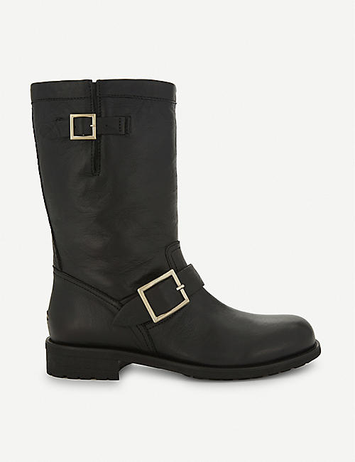 JIMMY CHOO Biker leather boots