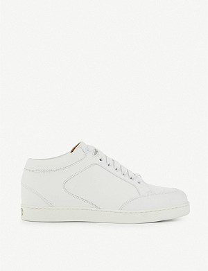 JIMMY CHOO Miami calf-leather trainers
