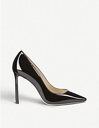 JIMMY CHOO: Romy 100 patent-leather courts