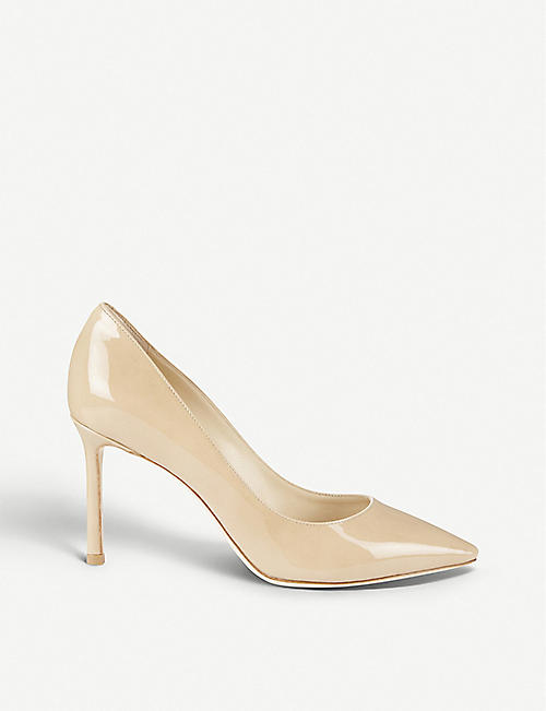 2ed537f94bbe JIMMY CHOO Romy 85 patent-leather courts