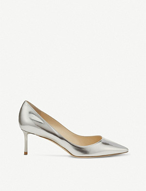 JIMMY CHOO Romy 60 mirror-leather courts