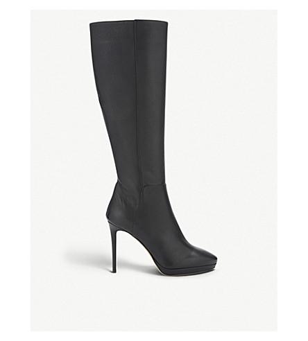 502ef0e9041c JIMMY CHOO Hoxton 100 grainy calf leather knee-high boots (Black