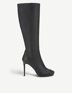 JIMMY CHOO Hoxton 100 grainy calf leather knee-high boots
