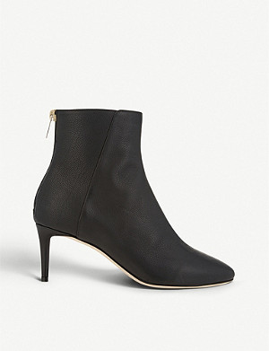 JIMMY CHOO Duke 65 grainy leather heeled boots