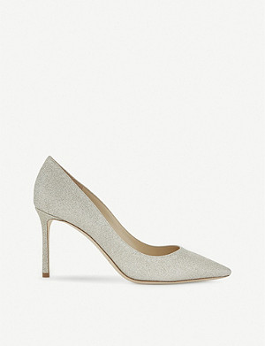 JIMMY CHOO Romy 85 dusty glitter courts