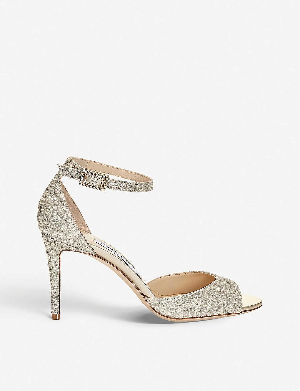 25b08b5bed6 Annie 85 glitter heeled sandals - Platinum ice ...