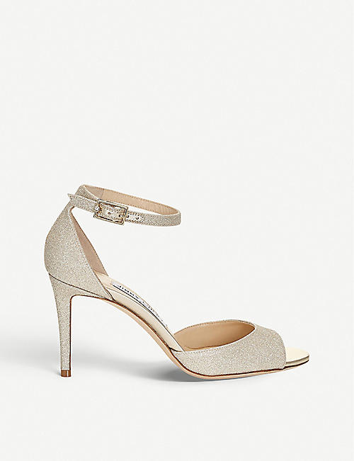 JIMMY CHOO Annie 85 glitter heeled sandals