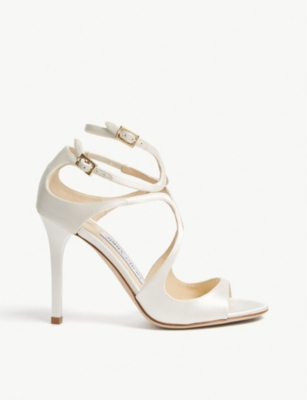 JIMMY CHOO Lang 100 patent-leather heeled sandals