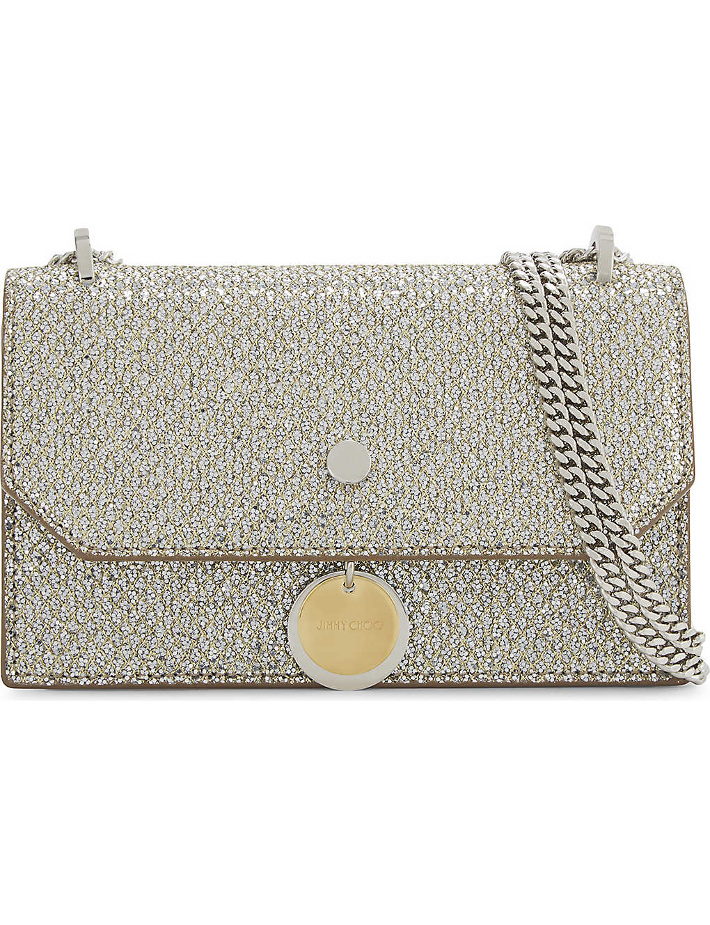 f07c5de77a JIMMY CHOO - Finley glitter cross-body bag | Selfridges.com