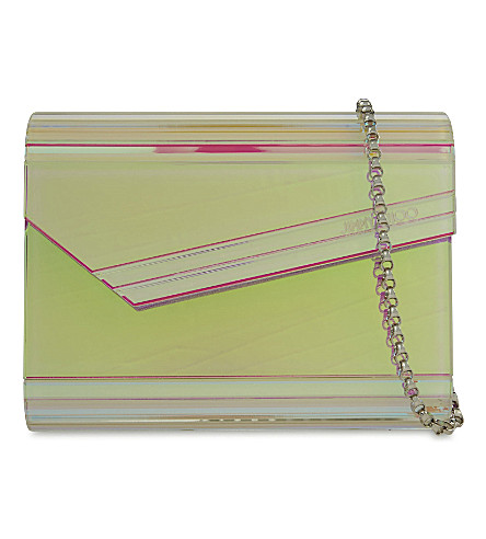 344563f869a8 JIMMY CHOO Candy holographic acrylic clutch (Multi