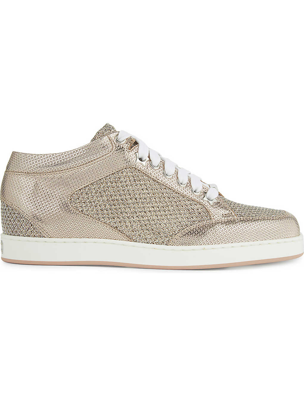 683a6dbd5e JIMMY CHOO - Miami metallic glitter trainers | Selfridges.com
