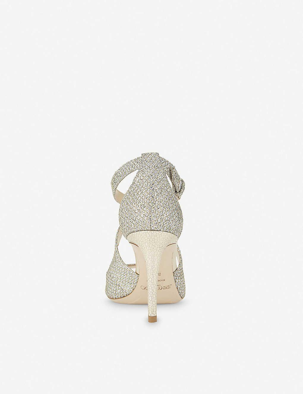 6a8c3d95a4e6 ... Emily 85 champagne glitter heeled sandals - Champagne ...
