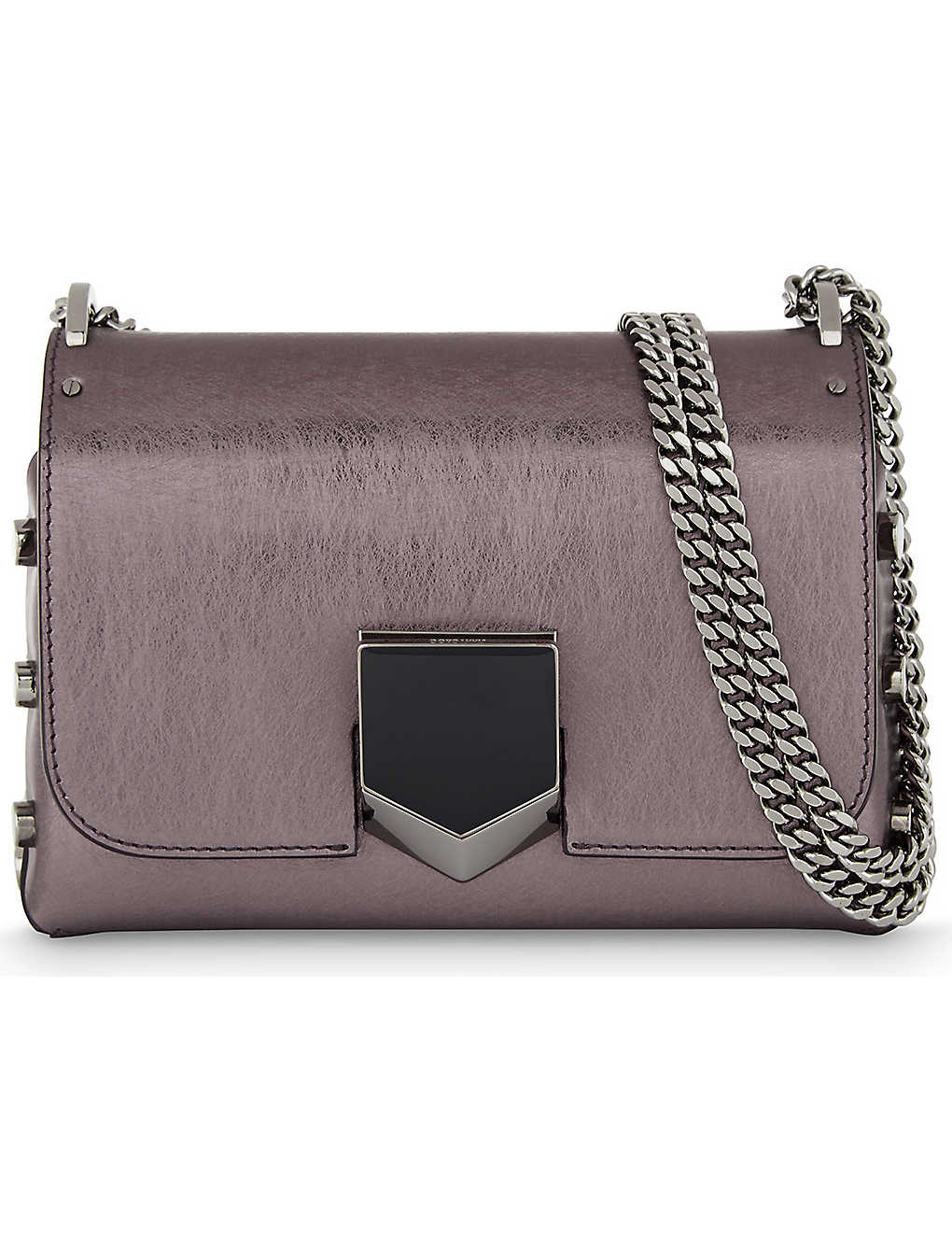 e486e66a899 JIMMY CHOO - Lockett Petite leather shoulder bag | Selfridges.com