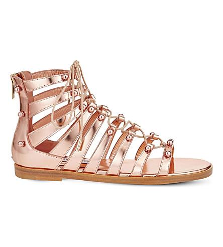 78cb87071719 JIMMY CHOO Gigi mirror-leather gladiator sandals (Tea rose