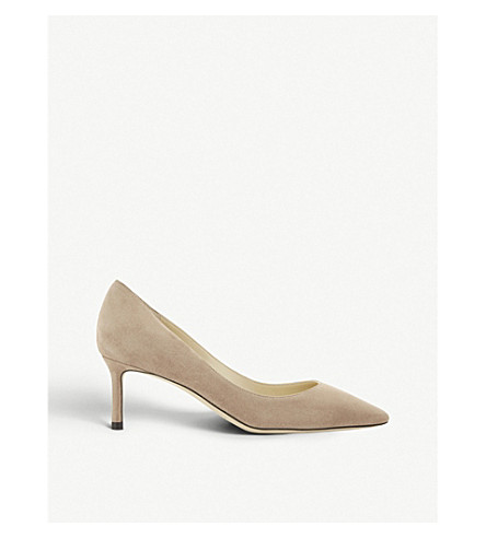 b14dacebcf8d JIMMY CHOO Romy 60 suede courts (Ballet+pink