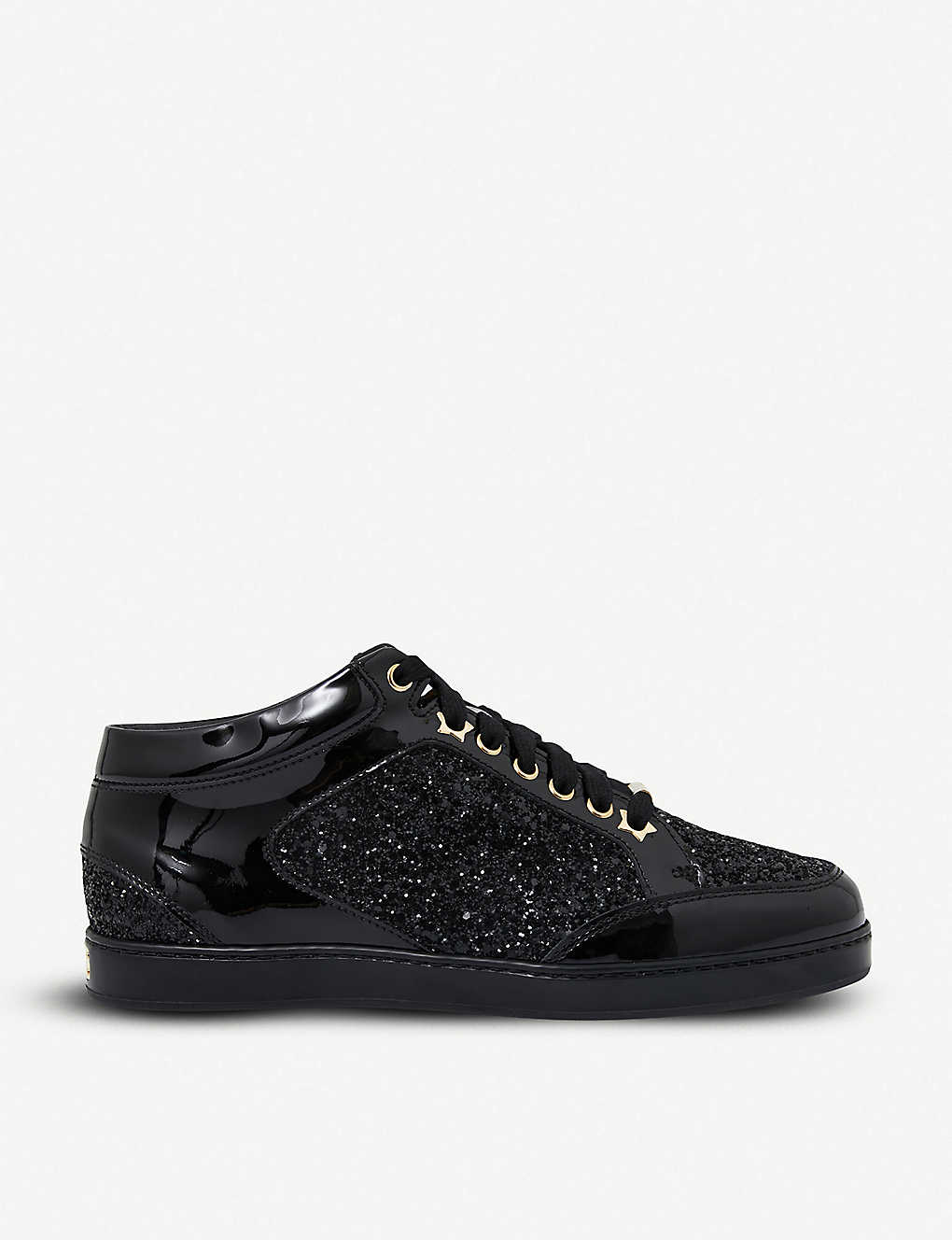 9edf4eb34ef5 JIMMY CHOO - Miami patent-leather and glitter sneakers | Selfridges.com