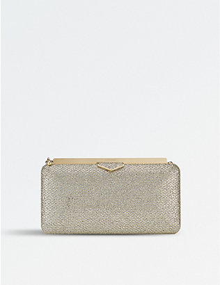 JIMMY CHOO: Ellipse glitter clutch