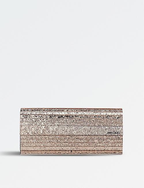 a60eaf87d49 JIMMY CHOO Shadow coarse glitter acrylic clutch bag