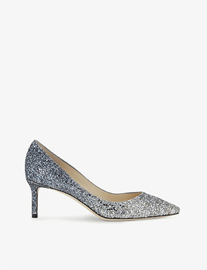 JIMMY CHOO Romy 60 coarse glitter courts