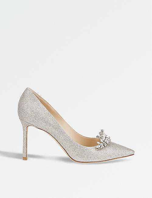 JIMMY CHOO: Romy 85 glitter courts