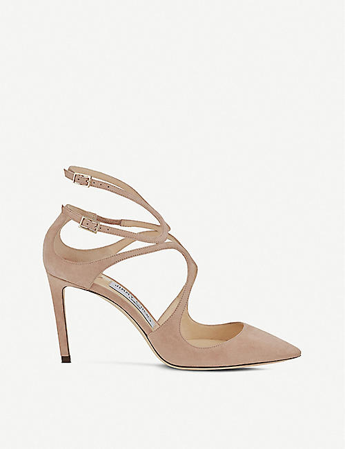 JIMMY CHOO Lancer 85 suede pointed courts