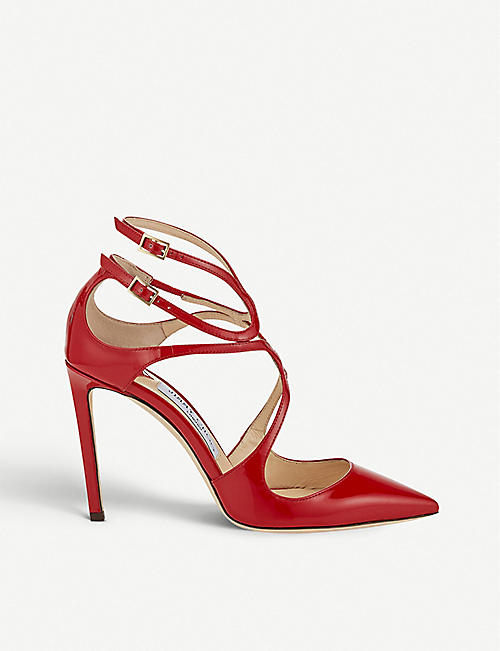 71a4cf12f020 JIMMY CHOO - Lancer 100 patent leather pointed courts