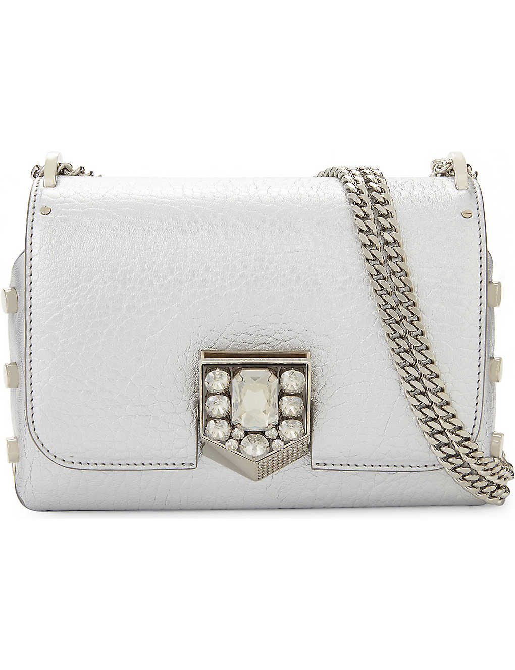 35dd23b0d60 JIMMY CHOO - Lockett Petite leather cross-body bag | Selfridges.com