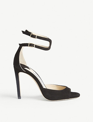 JIMMY CHOO Lane 100 suede black