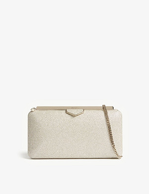 JIMMY CHOO Ellipse dusty glitter clutch