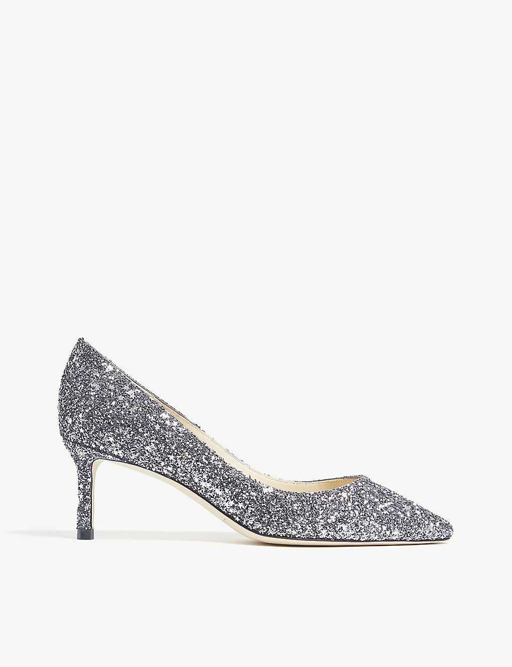 3341cff4c JIMMY CHOO - Romy 60 coarse glitter courts | Selfridges.com