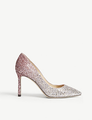 JIMMY CHOO Romy 85 iced glitter courts