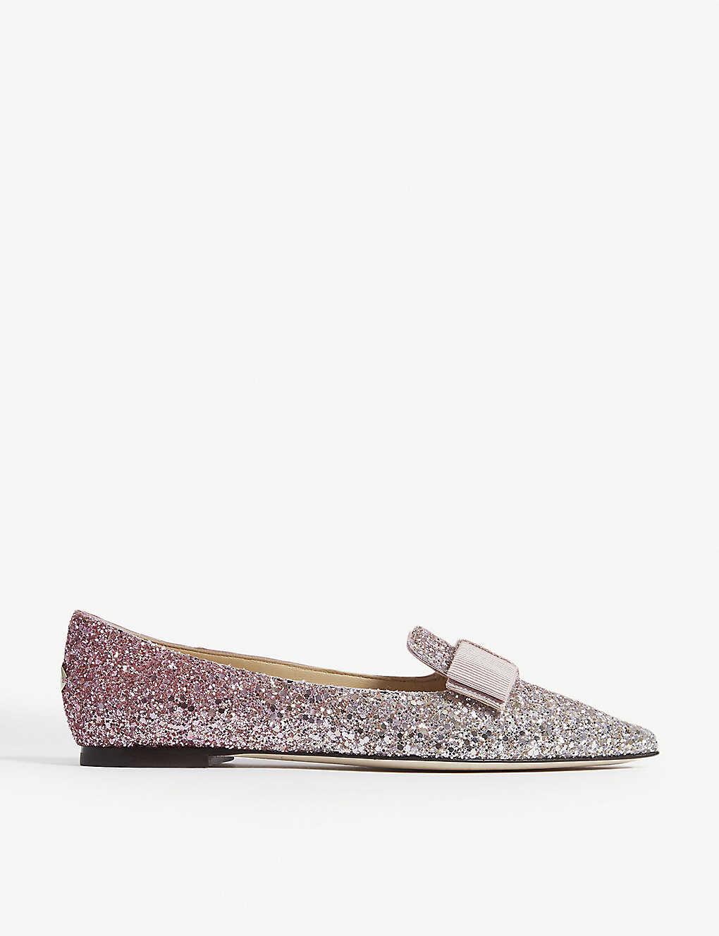 cac8d2131 Gala platinum and flamingo ice glitter dégradé pointed toe flats -  Platinumflamin ...
