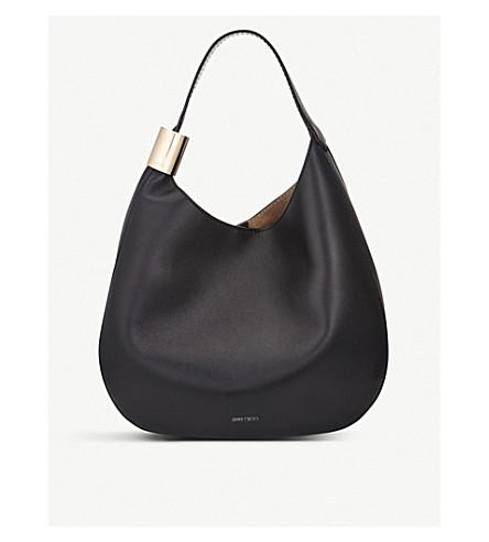 d2bac67c65c3 ... JIMMY CHOO Stevie leather hobo bag (Black. PreviousNext