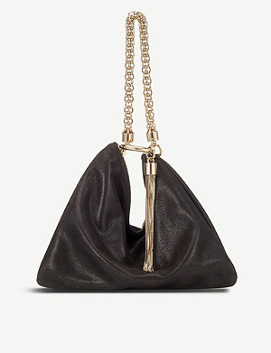 JIMMY CHOO Callie Suede Clutch Bag