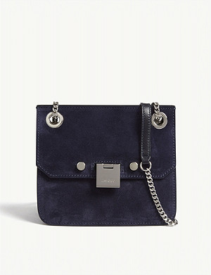 JIMMY CHOO Rebel/xb suede cross-body bag