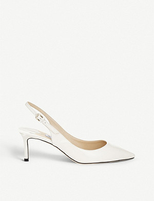 JIMMY CHOO Erin 60 patent-leather slingback courts